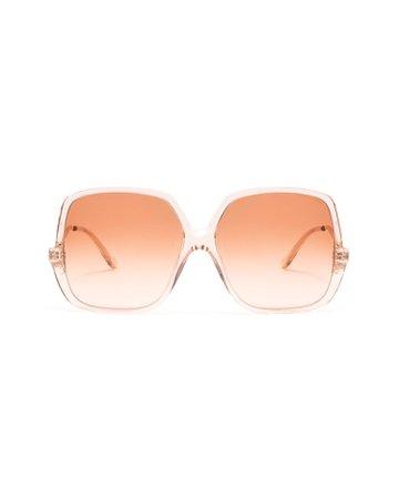 Velvet Canyon Sunday Brunch Oversized Square-Frame Sunglasses