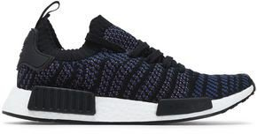 Nmd R1 Leather-trimmed Jacquard-knit Sneakers