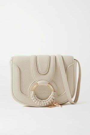 Hana Mini Textured-leather Shoulder Bag - Cream