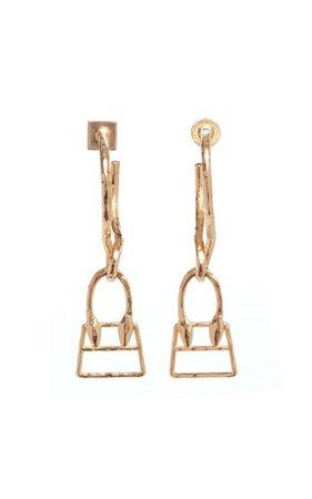 Les Creoles Chiquita Brass Earrings By Jacquemus | Moda Operandi