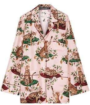 Printed Silk-twill Shirt