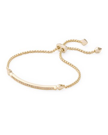 Kendra Scott OTT Adjustable Chain Bracelet w/ Cubic Zirconia | Neiman Marcus