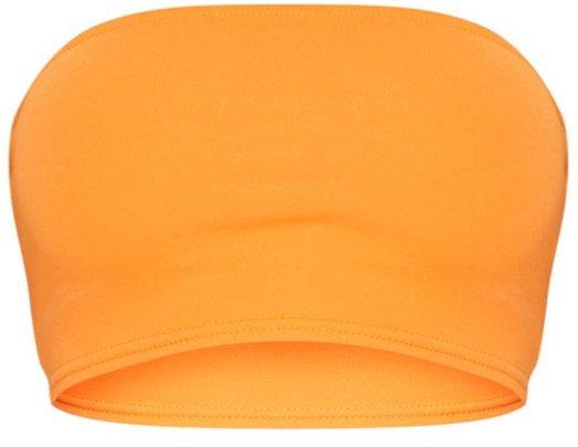 PLT orange bandeau top
