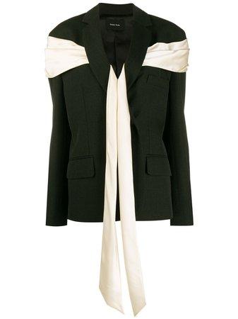 Shop black & neutral Simone Rocha wraparound fabric blazer with Express Delivery - Farfetch