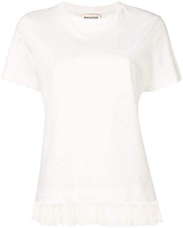 Semicouture frill hem T-shirt