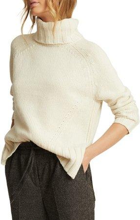 Eve Turtleneck Wool & Cashmere Sweater