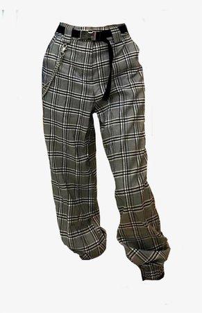 90s grunge plaid pants