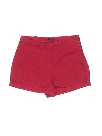 Forever 21 Solid Red Dressy Shorts