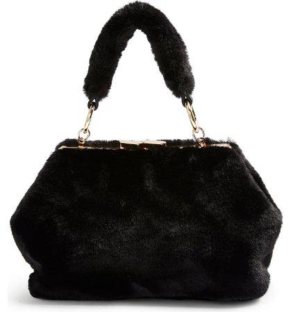 Topshop Felicity Faux Fur Shoulder Bag   Nordstrom
