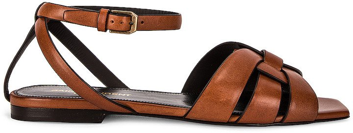 Tribute Nu Pieds Sandals in Caramel | FWRD
