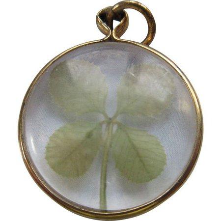 Vintage Four Leaf Clover Charm