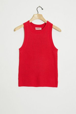 Quinn Textured Knit Tank | Anthropologie