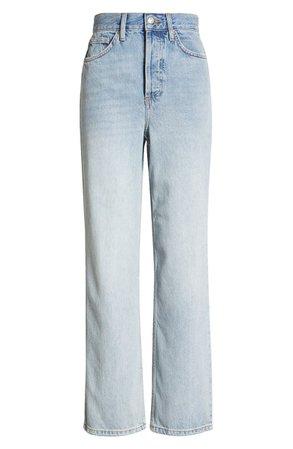 Topshop Considered Kort Back Rip Straight Leg Jeans | Nordstrom