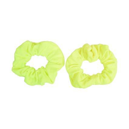 Amazon.com : Set of 8 Neon Color Solid Scrunchies Hair Scrunchy : Beauty