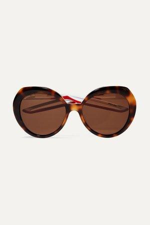 Balenciaga | Round-frame tortoiseshell acetate sunglasses | NET-A-PORTER.COM