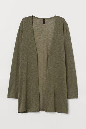 Loose-knit Cardigan - Green
