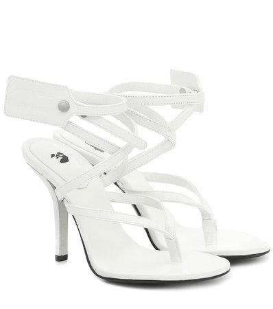 Leather Sandals - Off-White | Mytheresa