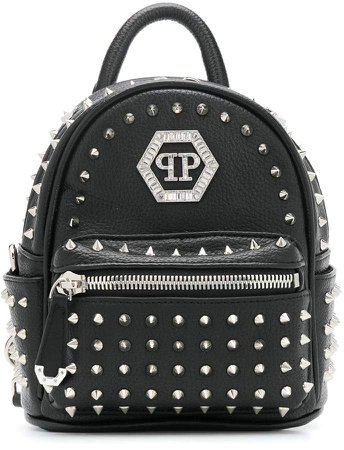 Hexagon Crystal studded backpack