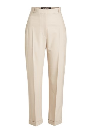 Cropped Pants with Virgin Wool Gr. FR 40