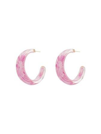 Alison Lou Tie-Dye Jelly Hoop Earrings TIEDYELOUCITEPINK Pink | Farfetch