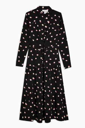 Spot Tiered Midi Shirt Dress | Topshop