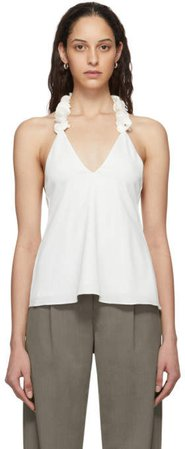 White Coiled Lei Cami Tank Top