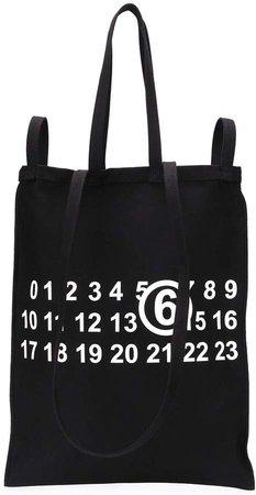 numbers logo shopper tote