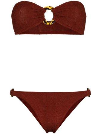 Hunza G Gloria Bandeau Bikini Set - Farfetch
