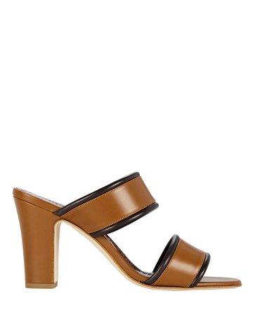 Manolo Blahnik Arpaga Leather Slide Sandals   INTERMIX®