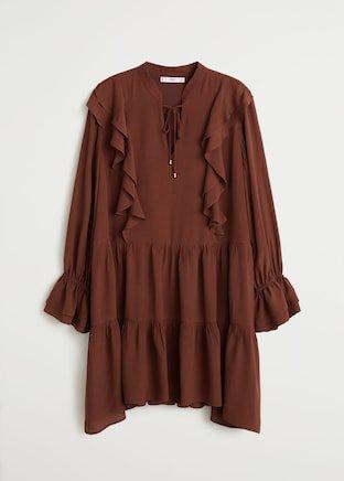 Short ruffled dress - Women | Mango USA