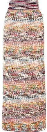 Crochet-knit Maxi Skirt - Purple