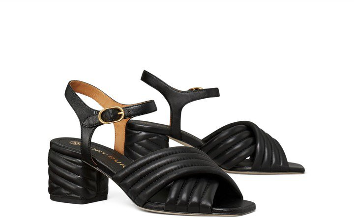 Kira Quilted Heeled Sandal