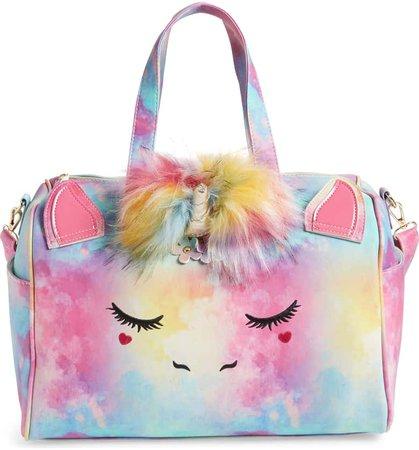 Under One Sky Faux Fur Pom Unicorn Duffle Bag (Kids) | Nordstrom