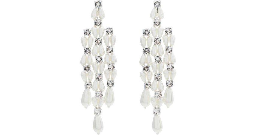 Simone Rocha Women's White Faux Pearl And Crystal Drop Earrings
