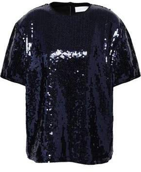 Victoria, Victoria Beckham Sequined Woven Top