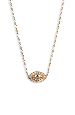 Zoë Chicco Diamond Halo Pendant Necklace | Nordstrom