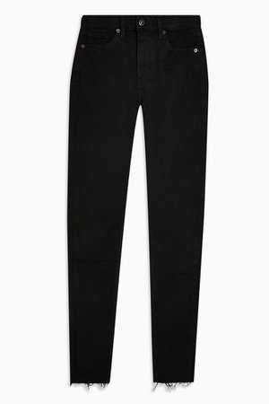 Black Raw Hem Jamie Jeans | Topshop