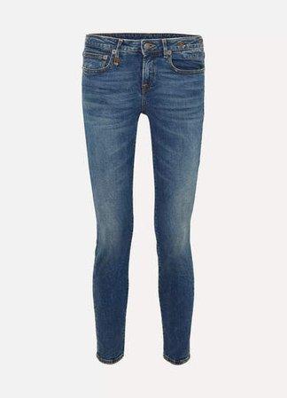 Alison Mid-rise Skinny Jeans - Dark denim