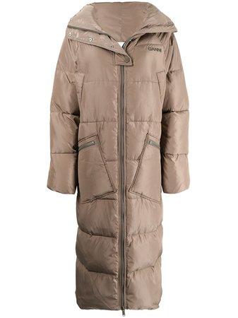 GANNI Oversized Puffer Coat - Farfetch