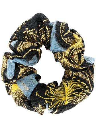Stine Goya Metallic Print Hair Scrunchy   Farfetch.com
