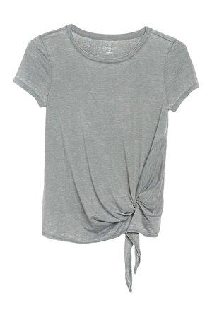 Caslon | Burnout Side Tie T-Shirt (Regular & Petite) | Nordstrom Rack