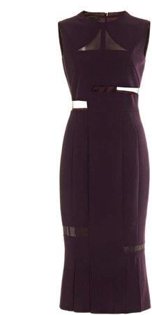 Akris Cutout Wool-Tulle Midi Dress