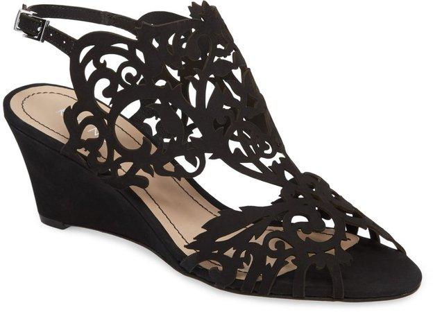 Marcela Laser Cutout Wedge Sandal