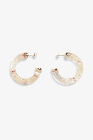 Chunky hoop earrings - Flowers - Jewellery - Monki WW