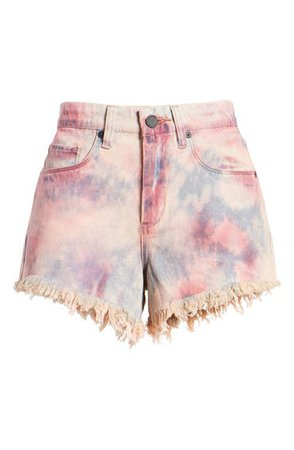 BLANKNYC The Barrow Tie Dye Denim Shorts (Bohemian Rhapsody) | Nordstrom