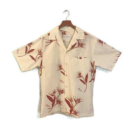 Vintage 1980's Men's Short Sleeve Button Down Shirt