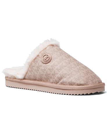 pink Michael Kors Janis Scuff Slippers & Reviews - Slippers - Shoes - Macy's