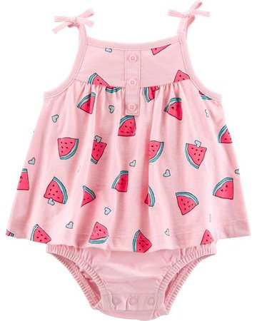 Baby Girl Watermelon Tank Sunsuit   Carters.com