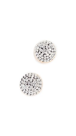 Marc Jacobs Pave circle stud earrings