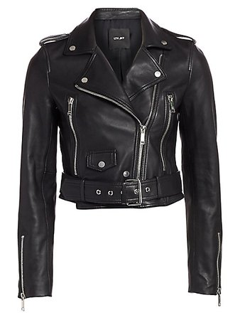 Lth Jkt Mya Leather Cropped Moto Jacket   SaksFifthAvenue